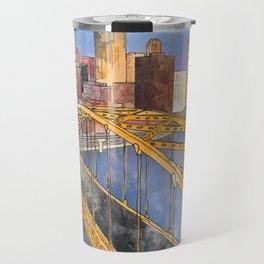 Pittsburgh Fort Pitt and Downtown Travel Mug