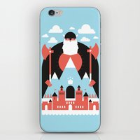 king iPhone & iPod Skins featuring King of the Mountain by Chase Kunz