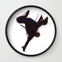 spider man Wall Clocks featuring Spider-Man by Josh Belden