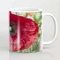 poppy Mugs featuring Poppy by Maria Heyens