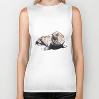 walrus Biker Tanks featuring Walrus by ZOO (William Redgrove)