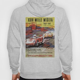 Mille Miglia, Race Poster, Vintage Poster, car poster Hoody