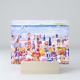 Revere Beach No. 2 by Maurice Prendergast - Belle Époque Watercolor Painting Mini Art Print