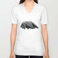 dreams V-neck T-shirts featuring Sweet Dreams Ursus Arctus  by Sandra Dieckmann