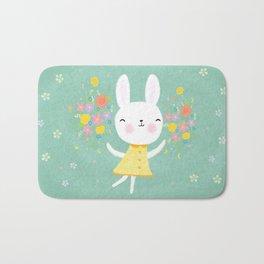 Dancing Garden Bunny Bath Mat