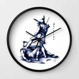 Gladiator Fighting Wall Clock
