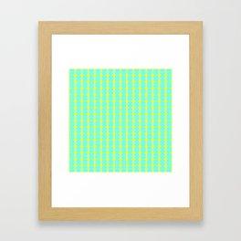aqua circles Framed Art Print