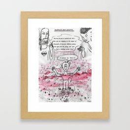 madman's declaration Framed Art Print