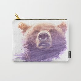 BEAR SUPERIMPOSED WATERCOLOR Carry-All Pouch