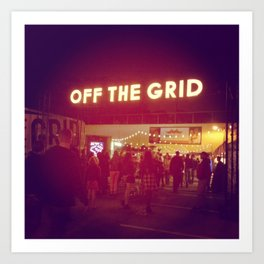Off the Grid Art Print