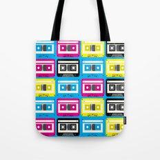 CMYK Cassette Tapes Tote Bag