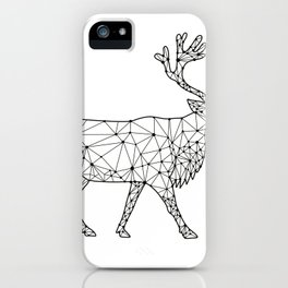 Caribou Side Nodes Black and White iPhone Case