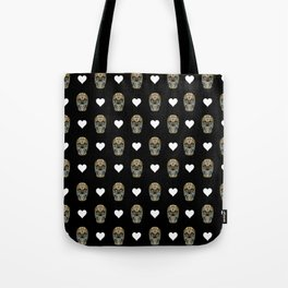 Say It with Skull and Hearts Tote Bag