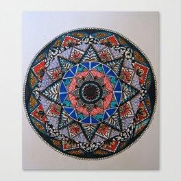 Vintage pattern art color Canvas Print