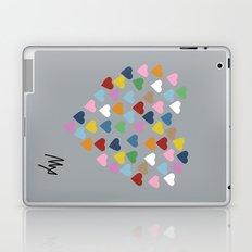 Hearts Heart Multi Grey Laptop & iPad Skin