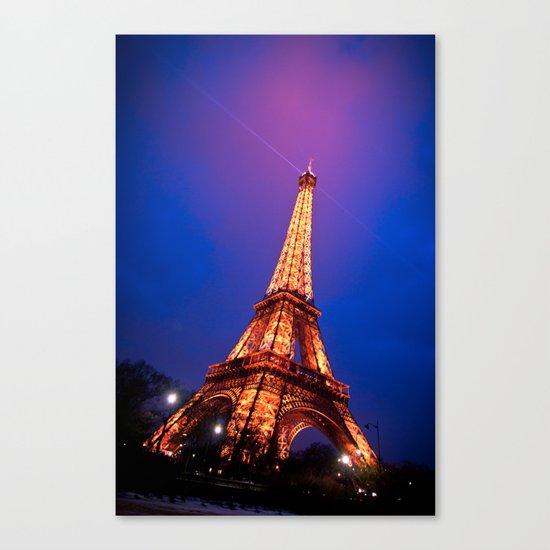 Eiffel Tower at Night Canvas Print