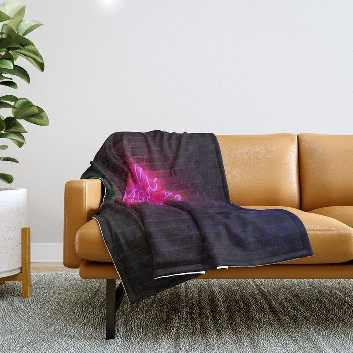 Hello Gorgeous - Neon Sign Throw Blanket