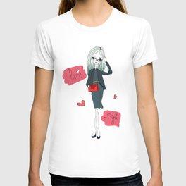 Stylish Parisian girl T-shirt
