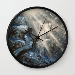 Spray Paint Waterfall Road to the Cross Wall Clock
