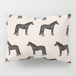 Black horse farm animal horses gifts Pillow Sham