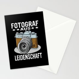 Passionate Photographer Stationery Cards