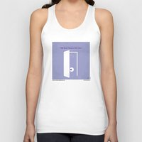 monsters inc Tank Tops featuring No161 My Monster Inc minimal movie poster by Chungkong