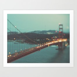 San Francisco Golden Gate Bridge photo, Sweet Light Art Print