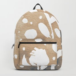 Whimsical watercolor flowers – neutral Backpack