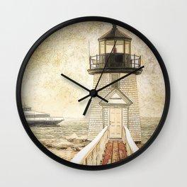 Brant Light Nantucket Wall Clock