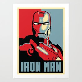 IRON MAN HOPE Art Print