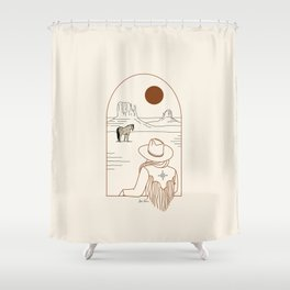 Lost Pony - Rustic Shower Curtain