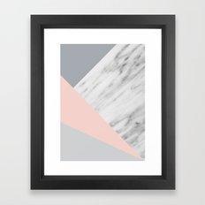 Scandi Collage Framed Art Print