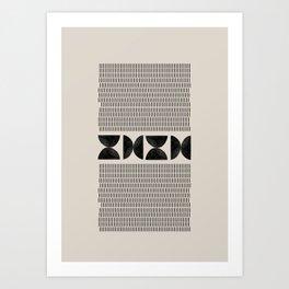 Mid Century Modern Geometric Art Print