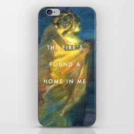 Woman Clothed with the Yellow Flicker Beat iPhone Skin
