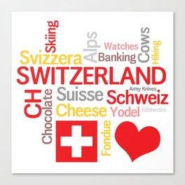 My Favorite Swiss Things Canvas Print