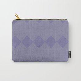 Purple Diamond Design Carry-All Pouch