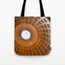 Gothic Cathedral Orange Brown Gold Tote Bag