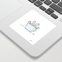Coffee Bunny Sticker