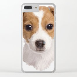 Jack Russell Terrier Pup Clear iPhone Case