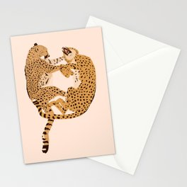 Cheetah Cuddles Stationery Cards