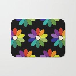 Flower pattern based on James Ward's Chromatic Circle (enhanced) Bath Mat