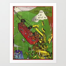 Super Lego Monorails in the Alps of My Mind Art Print