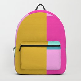 Geometric Bauhaus Style Color Block in Bright Colors Backpack