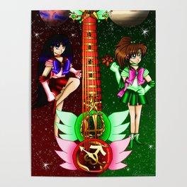 Fusion Sailor Moon Guitar #26 - Sailor Mars & Sailor Jupiter Poster