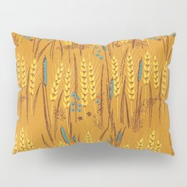 Pattern of Wheat Field Gold and Grey Pillow Sham