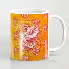 Noble House GINGER FIRE / Grungy heraldry design Coffee Mug