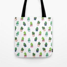 Cacti Abound Watercolor Graphic Print Tote Bag