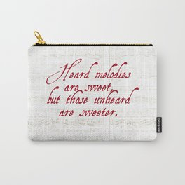 Quotation from Keats 'Ode to a Grecian Urn' Carry-All Pouch