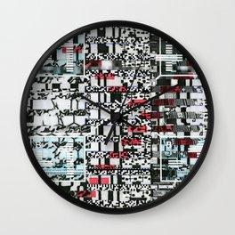 Part Wash (P/D3 Glitch Collage Studies) Wall Clock