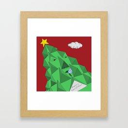 christmas pine Framed Art Print